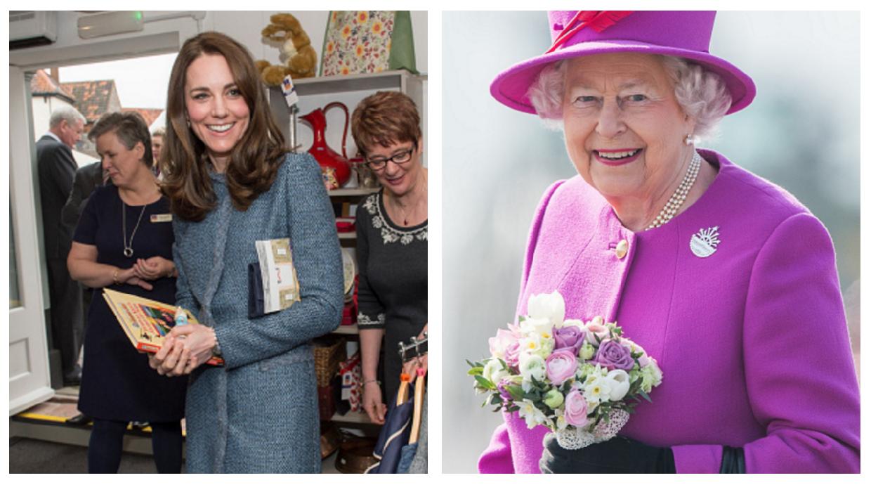 Princess Kate and Queen Elizabeth