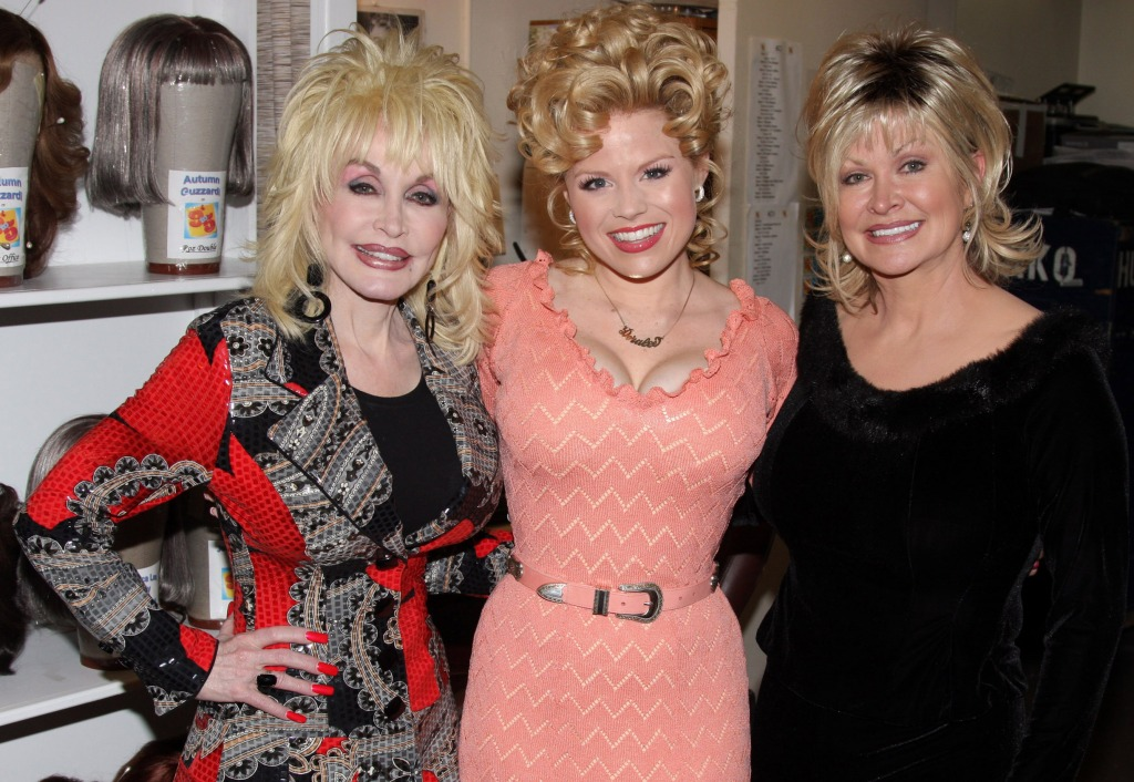 Dolly Parton, Megan Hilty, and Rachel Dennison