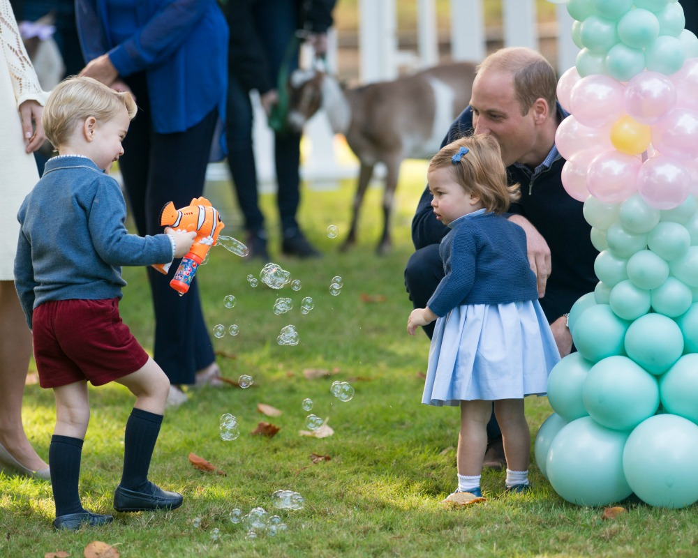 Princess Charlotte and George Playing Bubbles