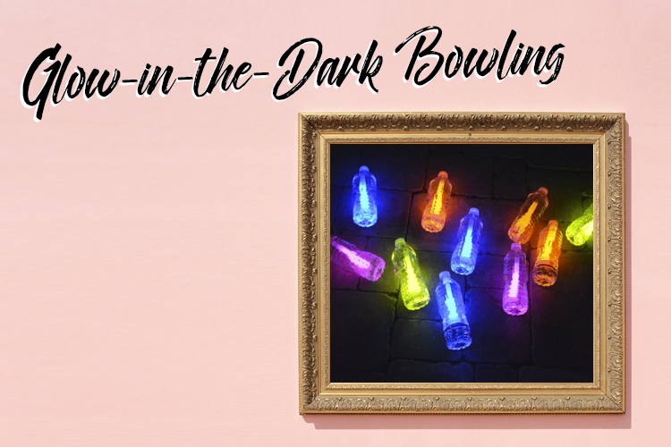 DIY Ideas Glow-in-the-Dark Bowling
