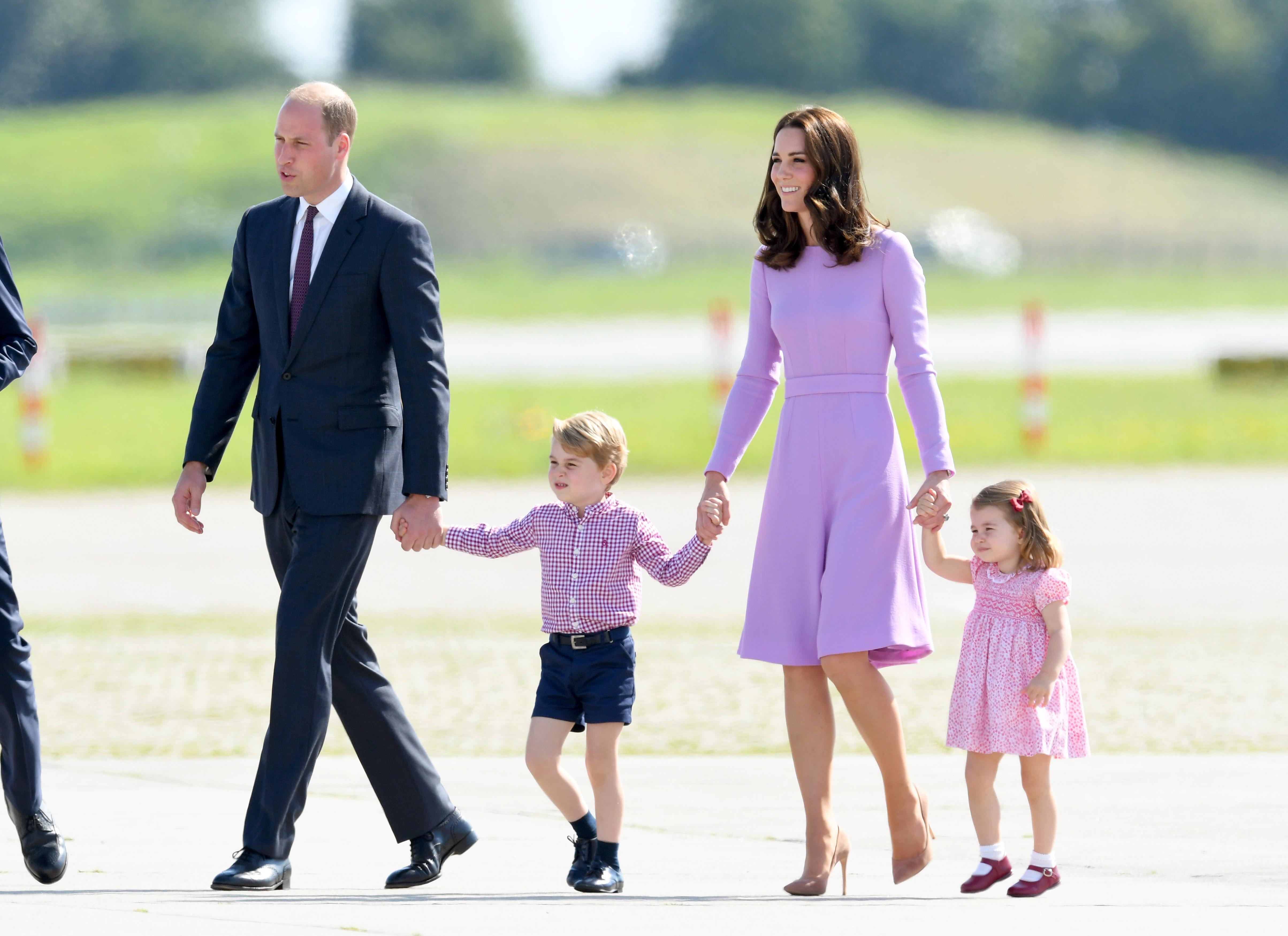 royal family walking