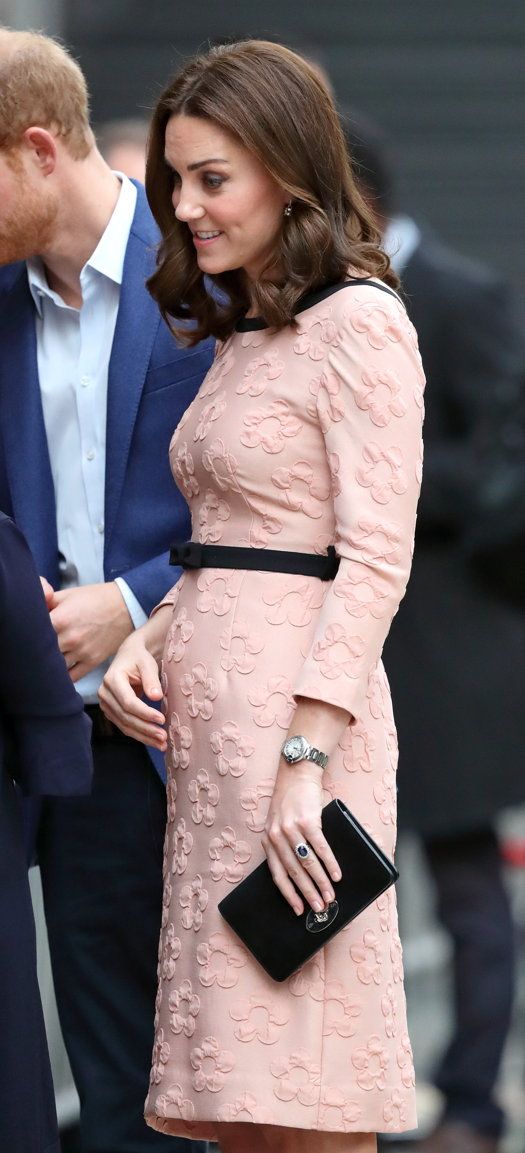 kate pink dress bump