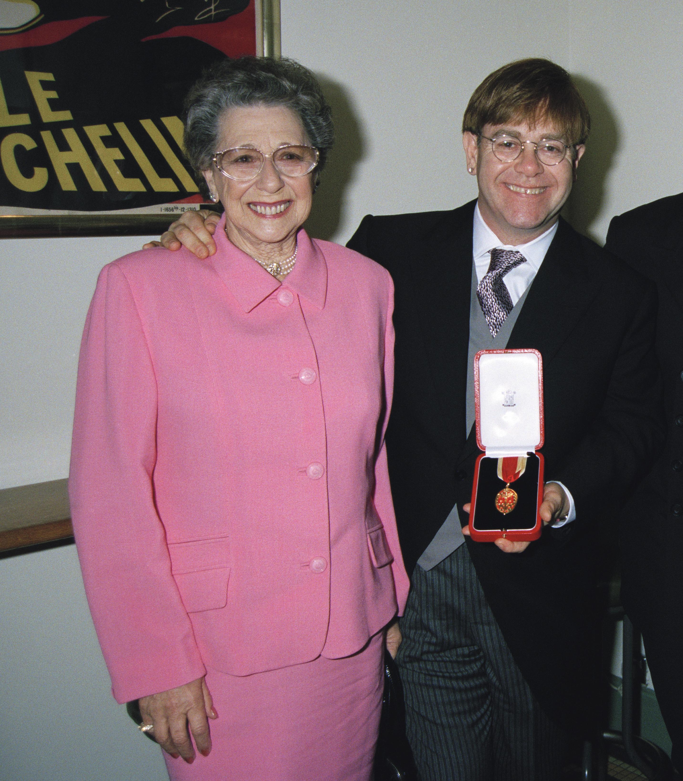 Elton John Mom Getty Images