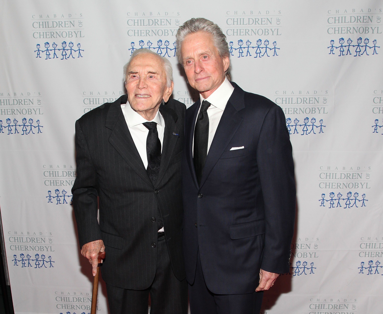 Kirk Douglas and Michael Douglas Getty