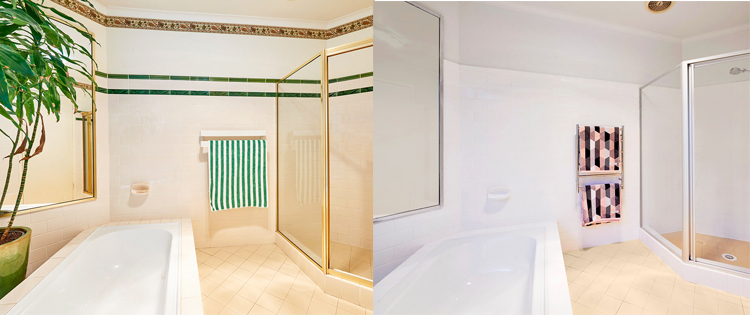 Shower Makeover Before and After