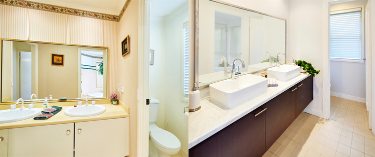 Tub Makeover Before and After