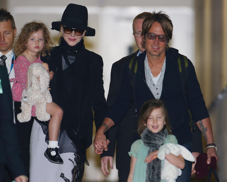 Keith Urban Nicole Kidman Family Getty Images
