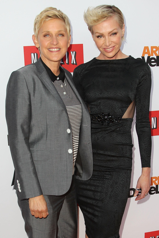 Portia de Rossi and Ellen
