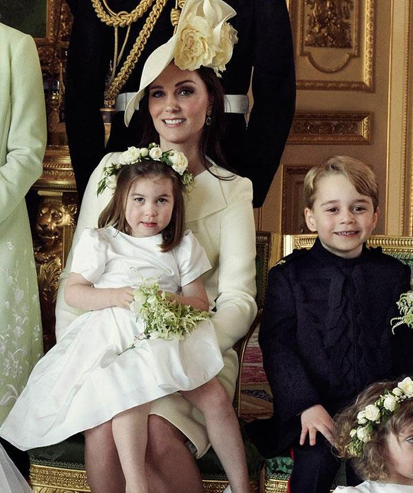 Kate Middleton Charlotte Royal Wedding Portrait NTL