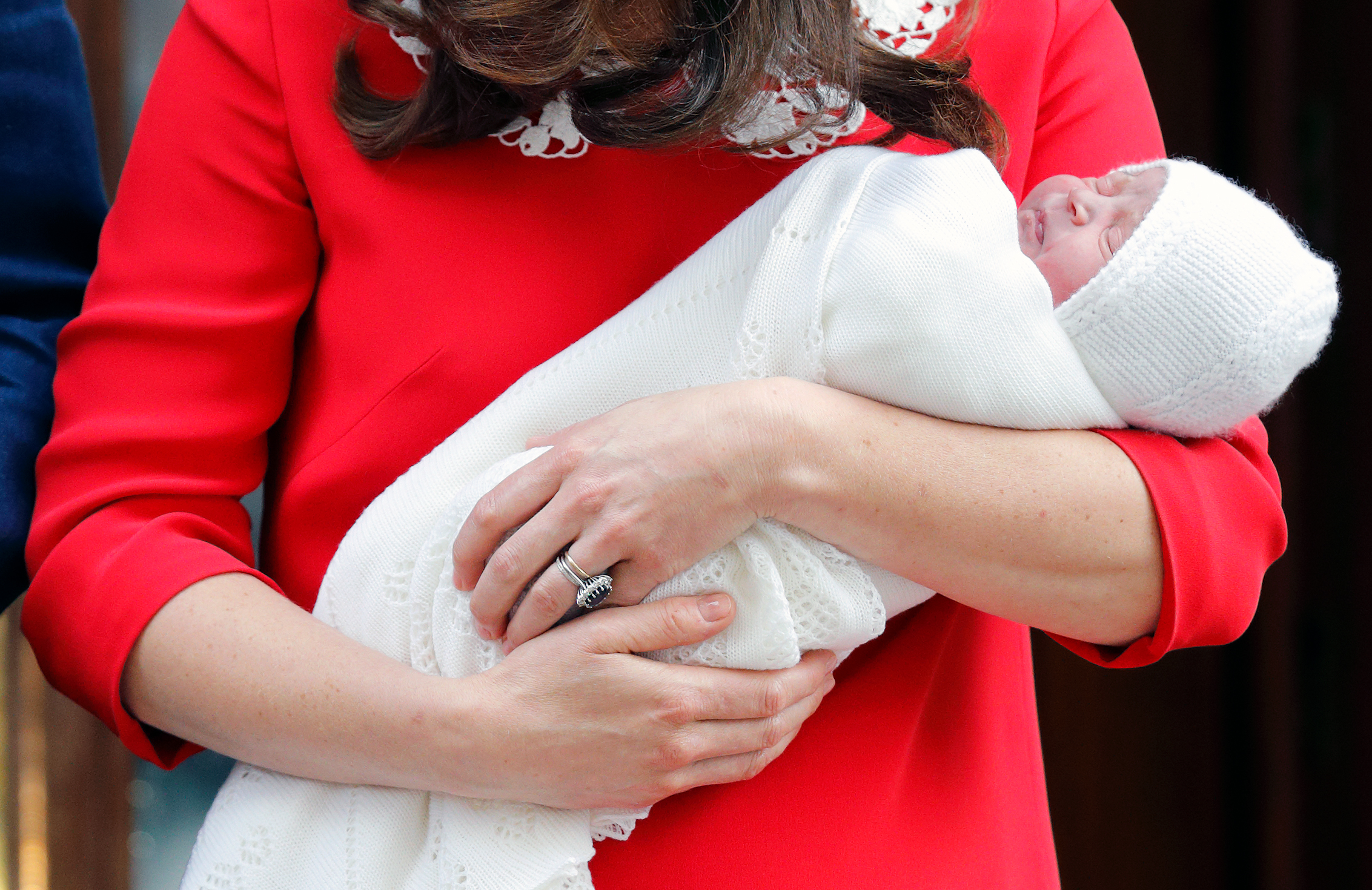 prince louis in kate middleton's arms