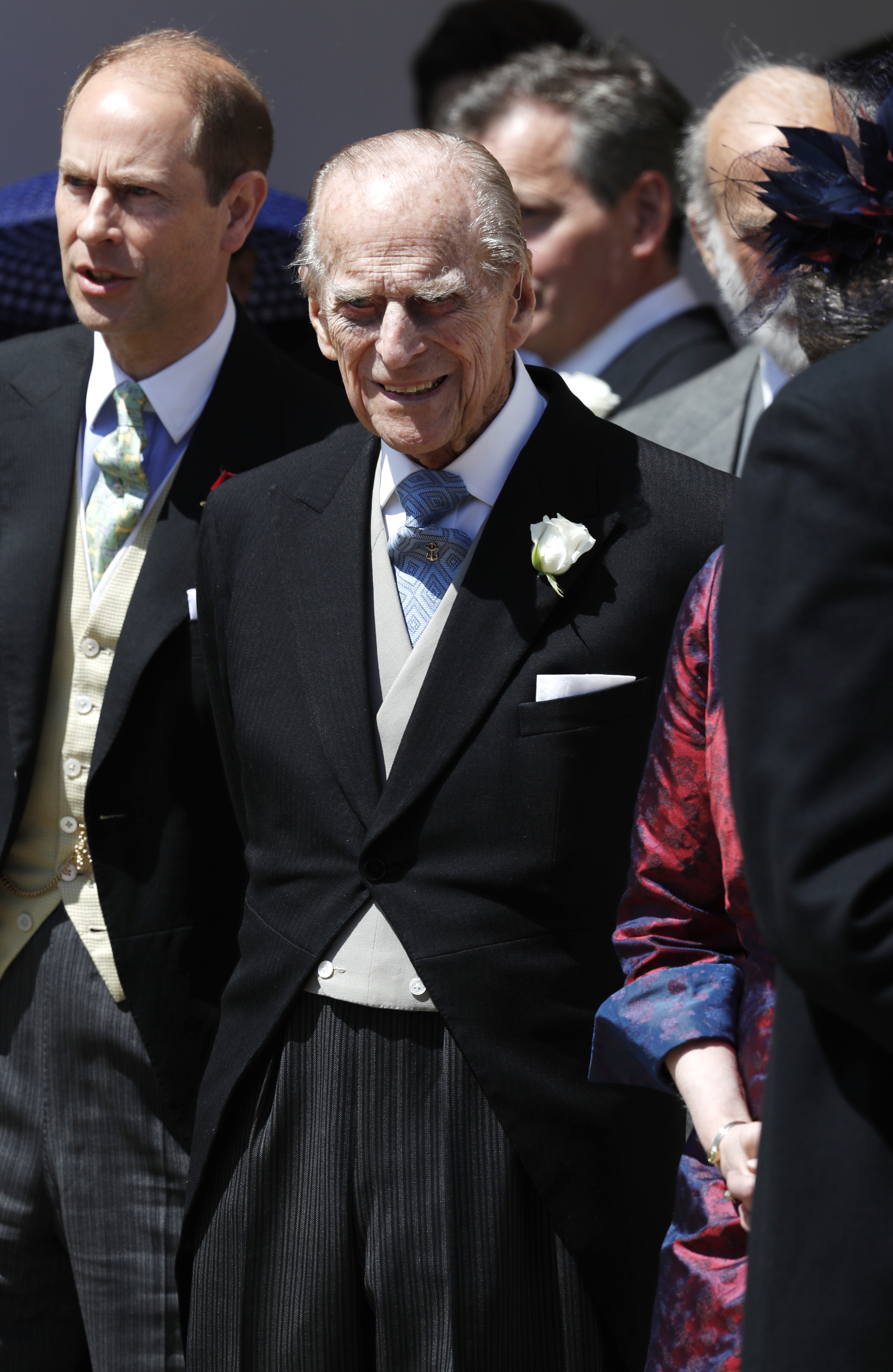Prince Philip Cracked Rib Royal Wedding Getty Images