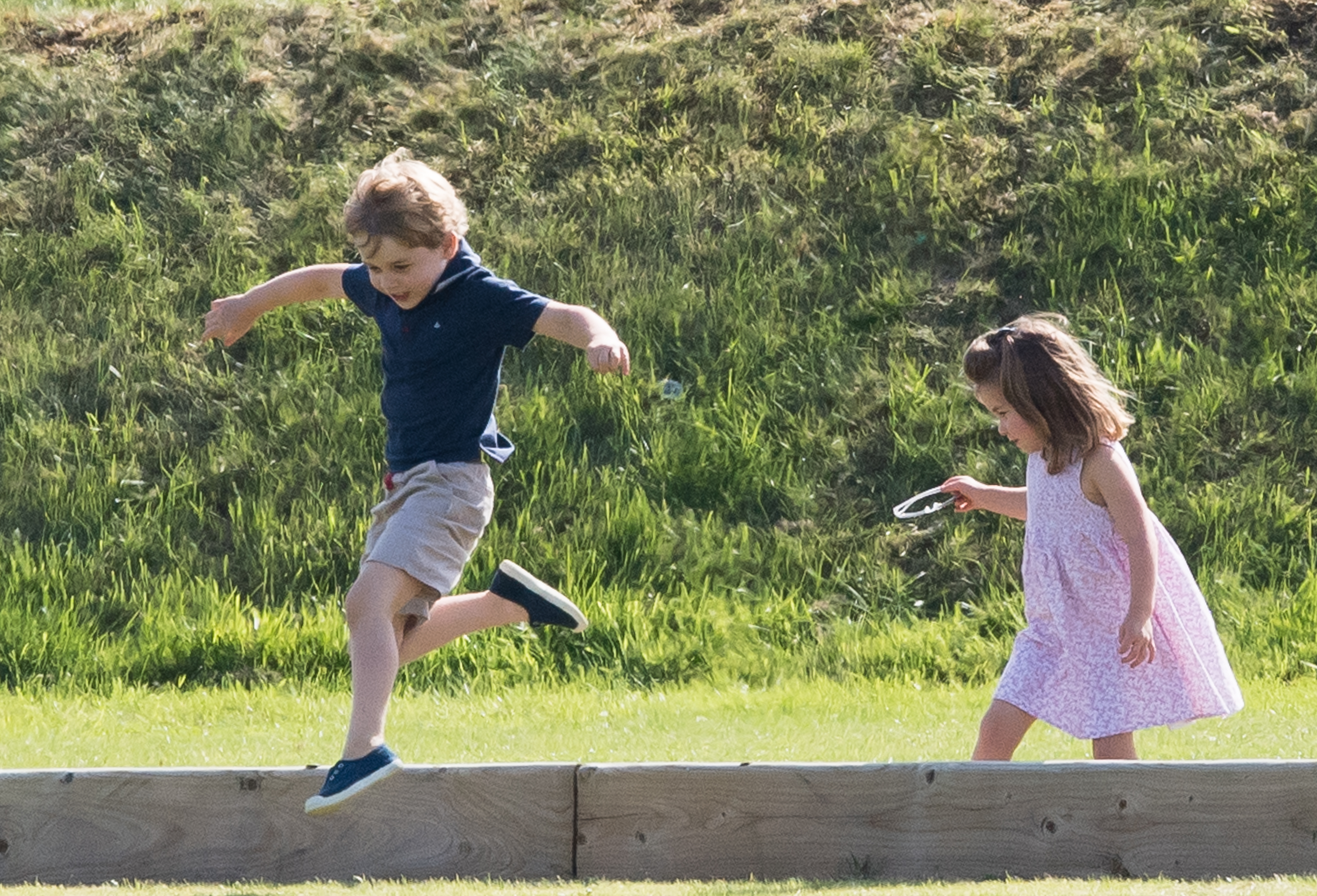 Prince George Princess Charlotte Play Polo Getty Images