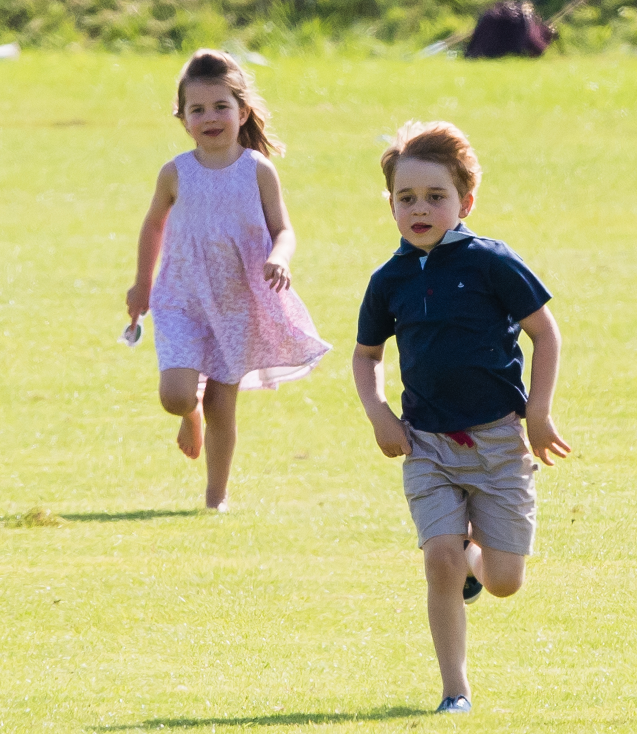 Prince George Princess Charlotte Running Getty Images