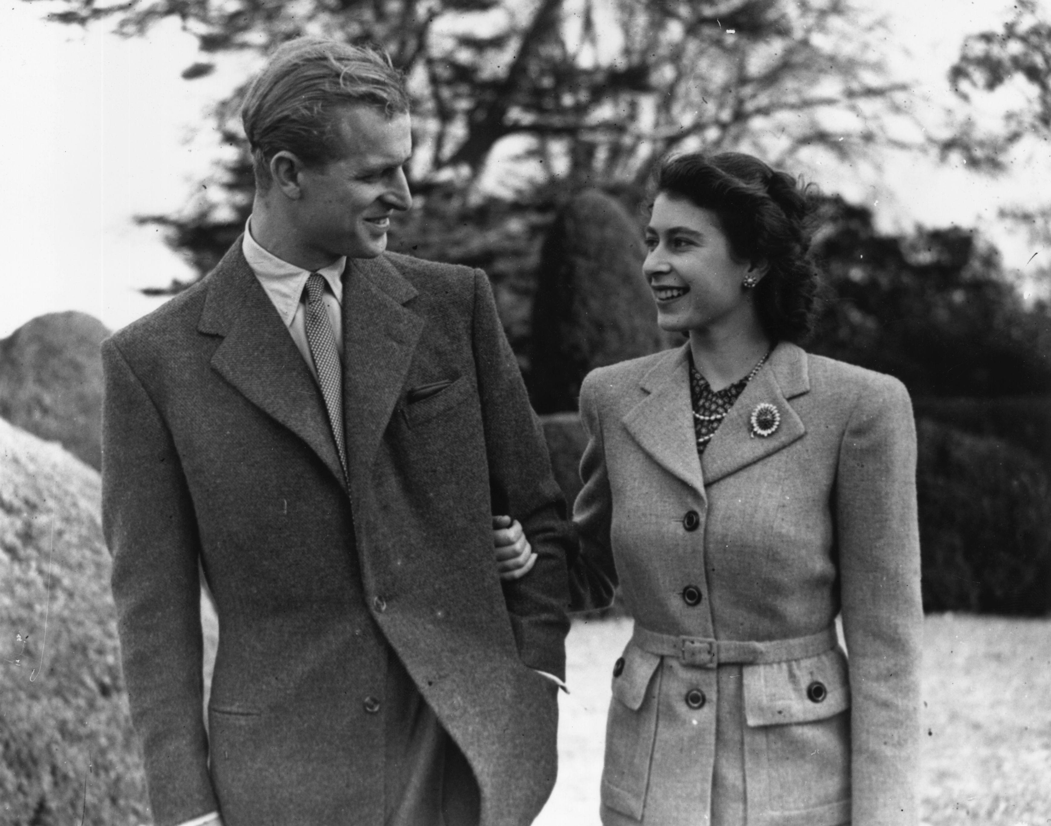 Queen Elizabeth Prince Philip Honeymoon Getty Images