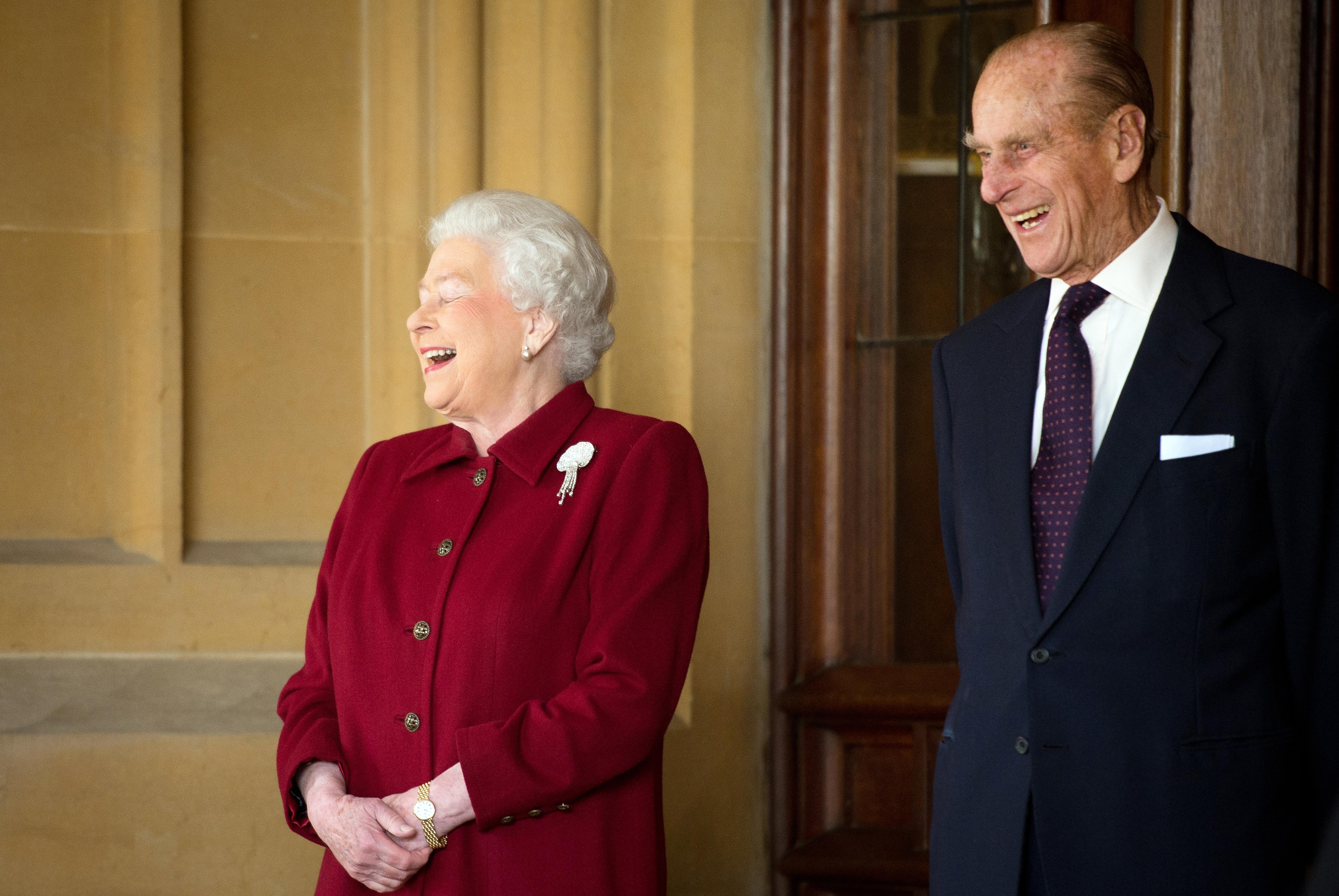 Queen Elizabeth Prince Philip Laugh Getty Images