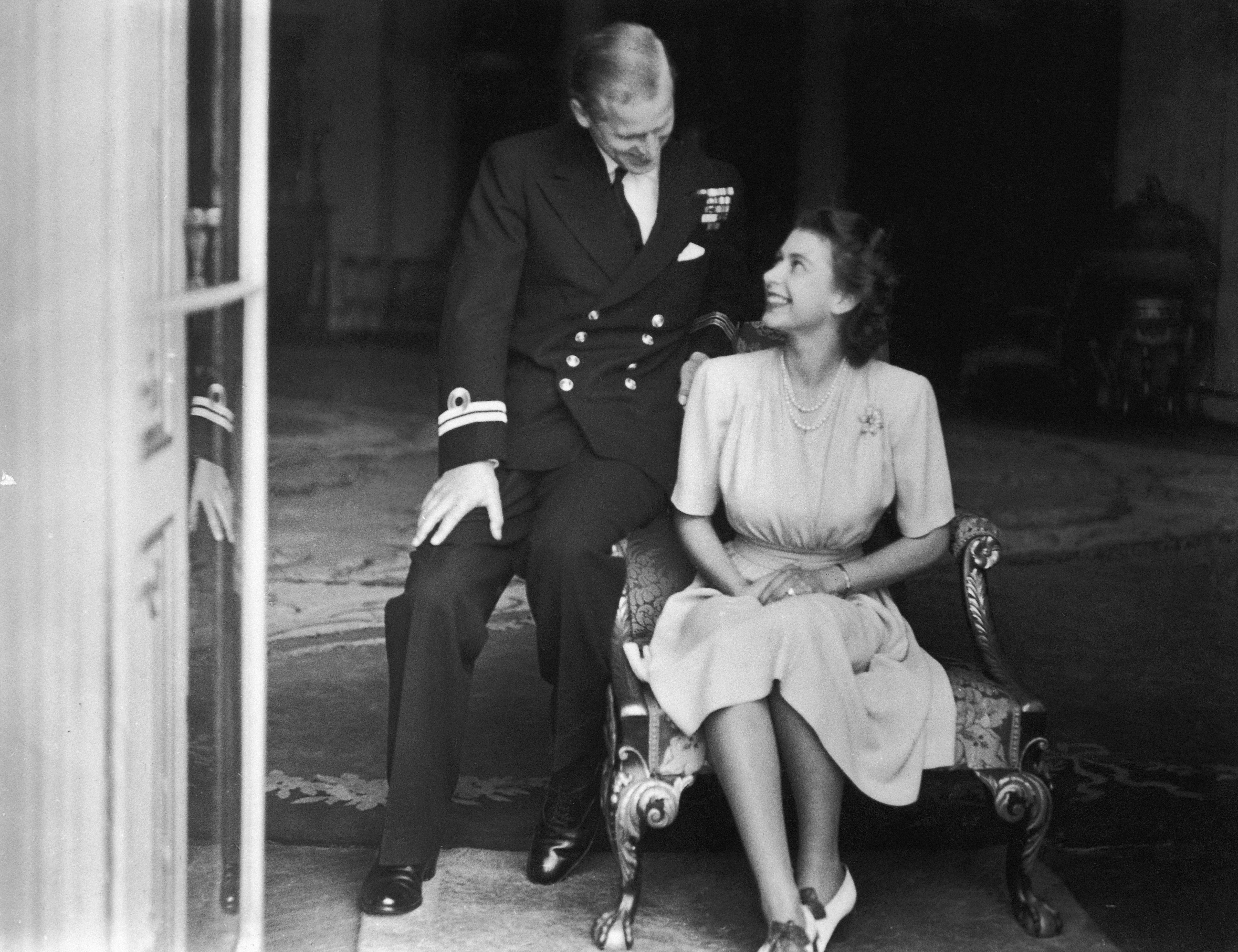 Queen Elizabeth Prince Philip Engagement Getty Images