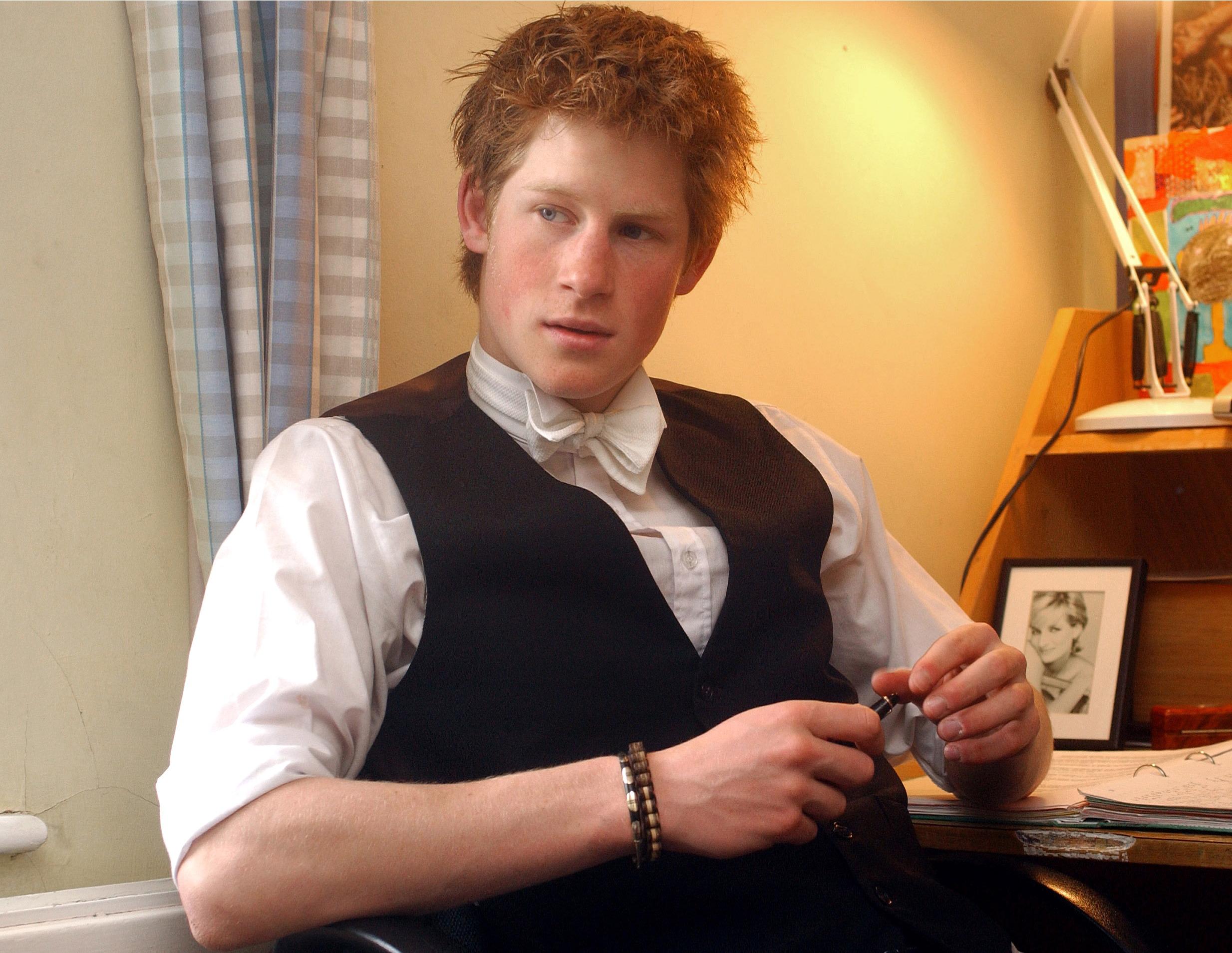 Prince Harry's desk at Eton