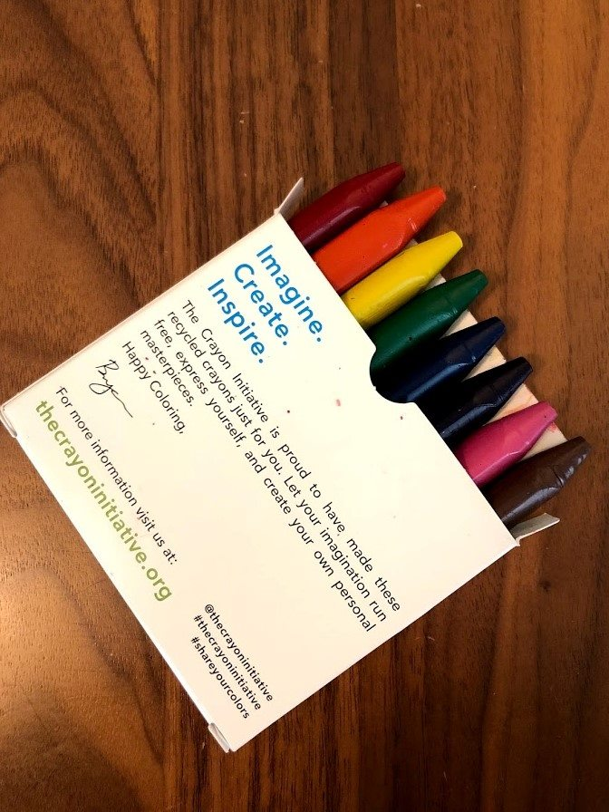 donate used crayons
