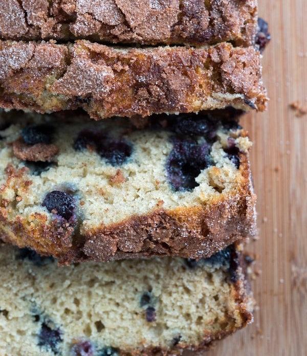 Easy Banana Bread Blueberries