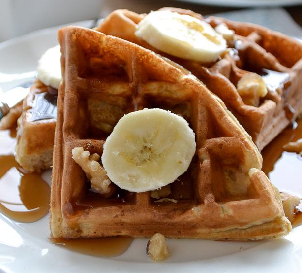 Easy Banana Bread Waffles