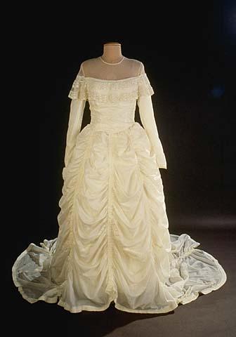 parachute wedding dress front