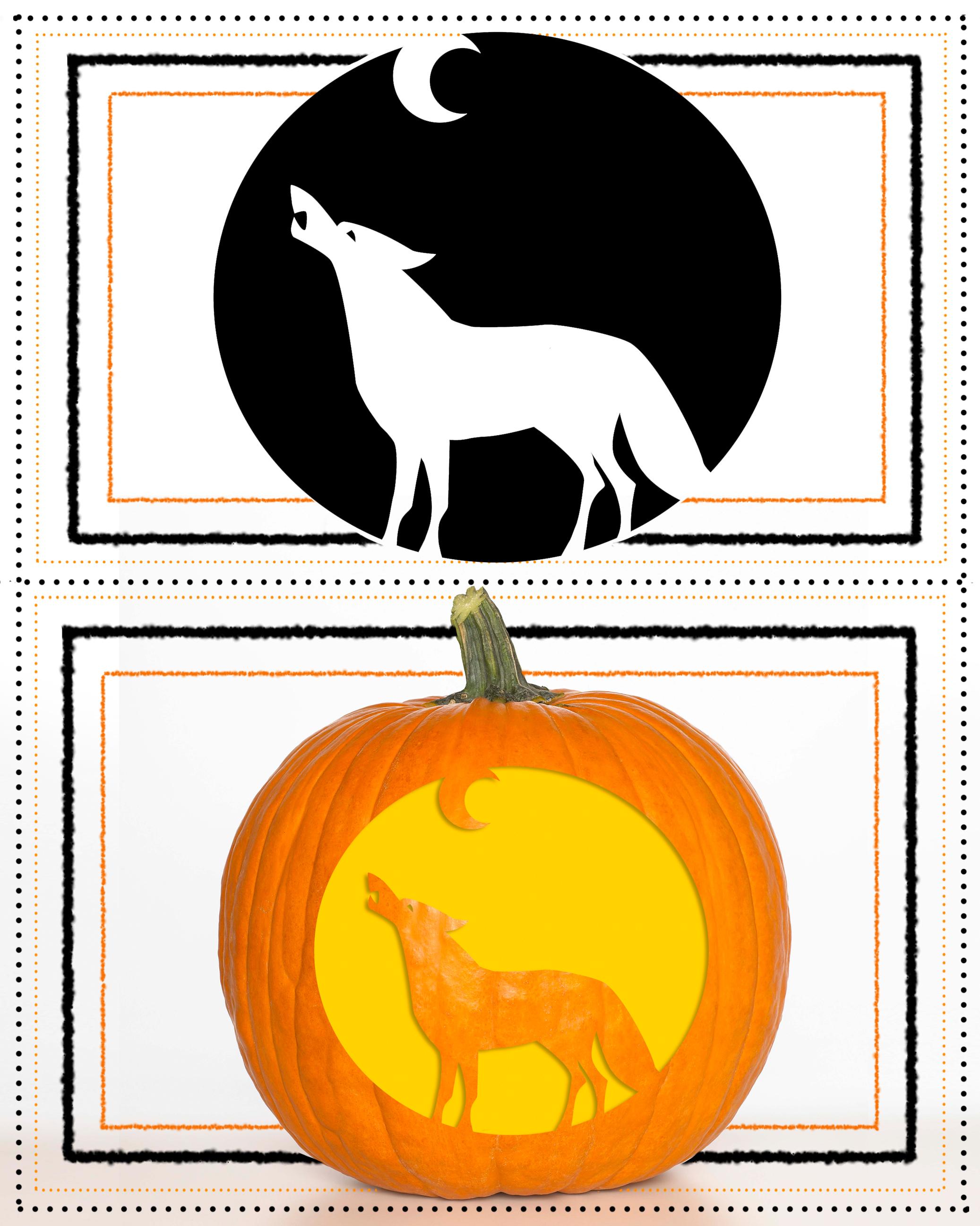 Pumpkin Stencil Wolf