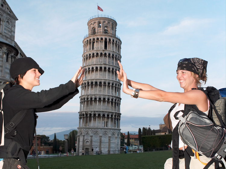 forced perspective leaning tower of pisa