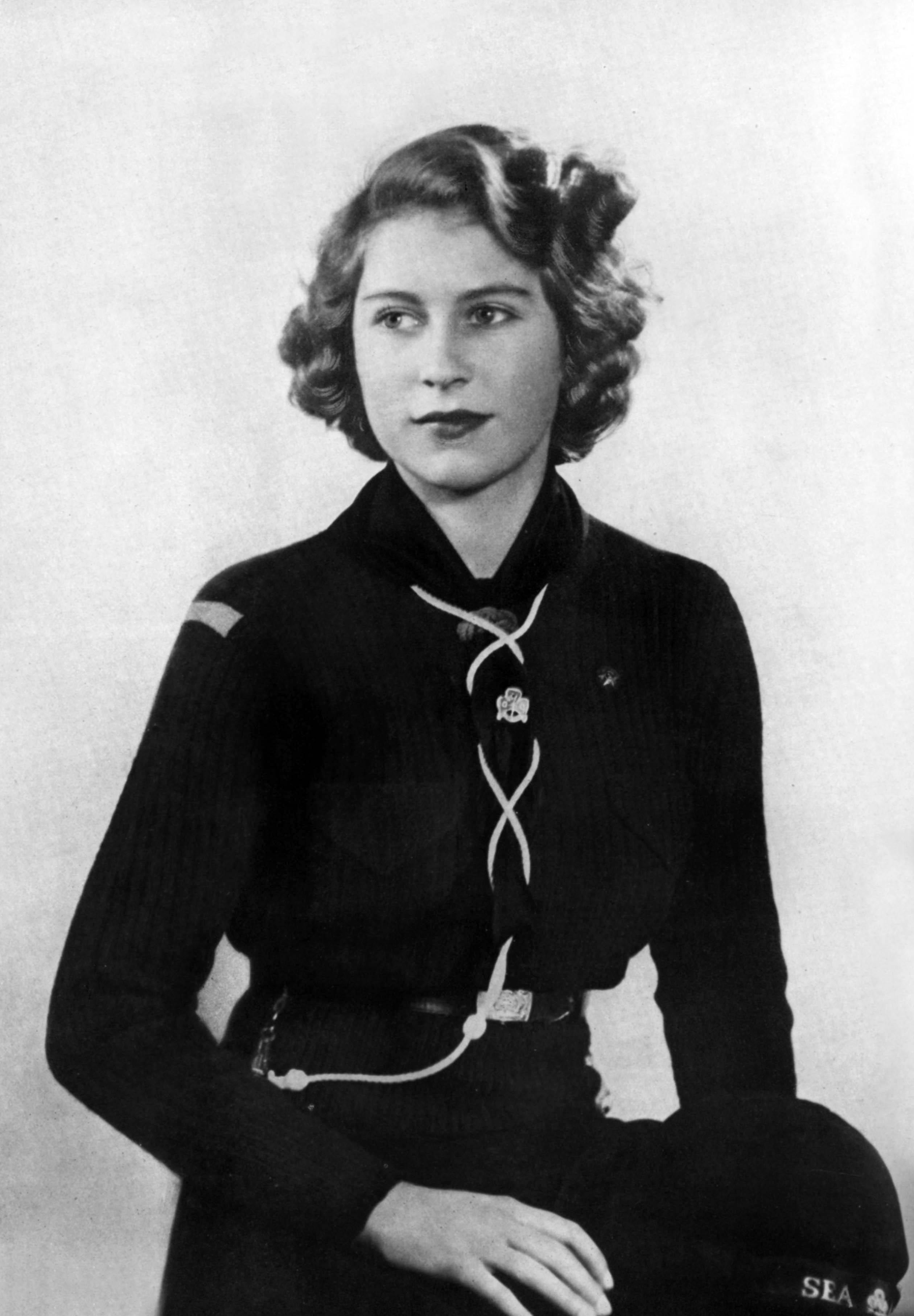 Princess Elizabeth Girl Guides Getty Images