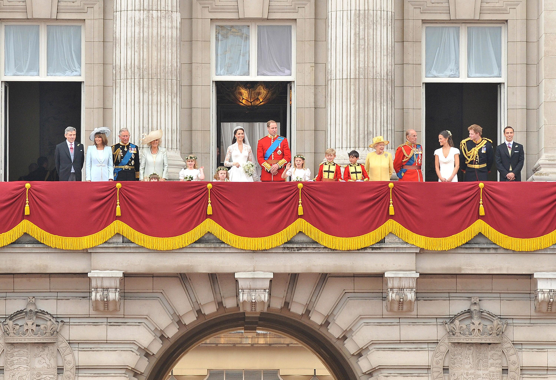 Queen Elizabeth Prince William Wedding Getty Images