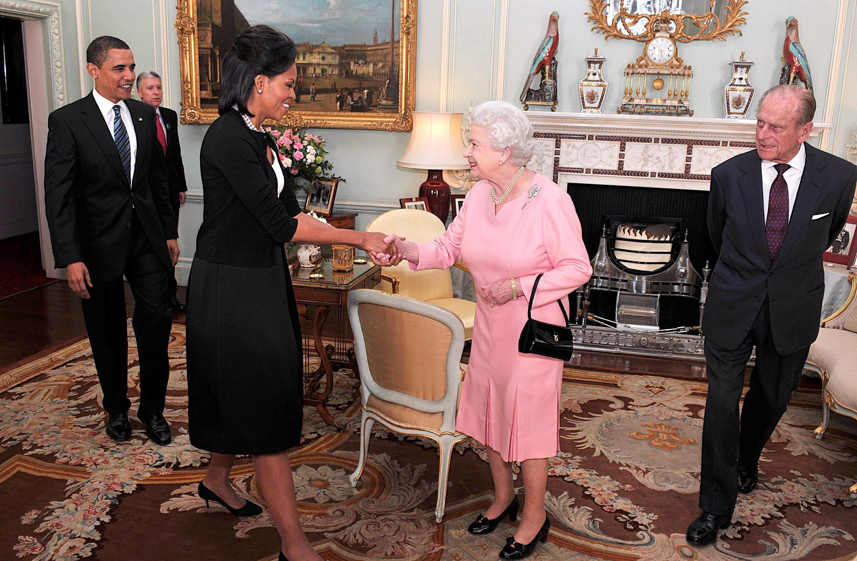 Queen Elizabeth Michelle Obama Getty Images
