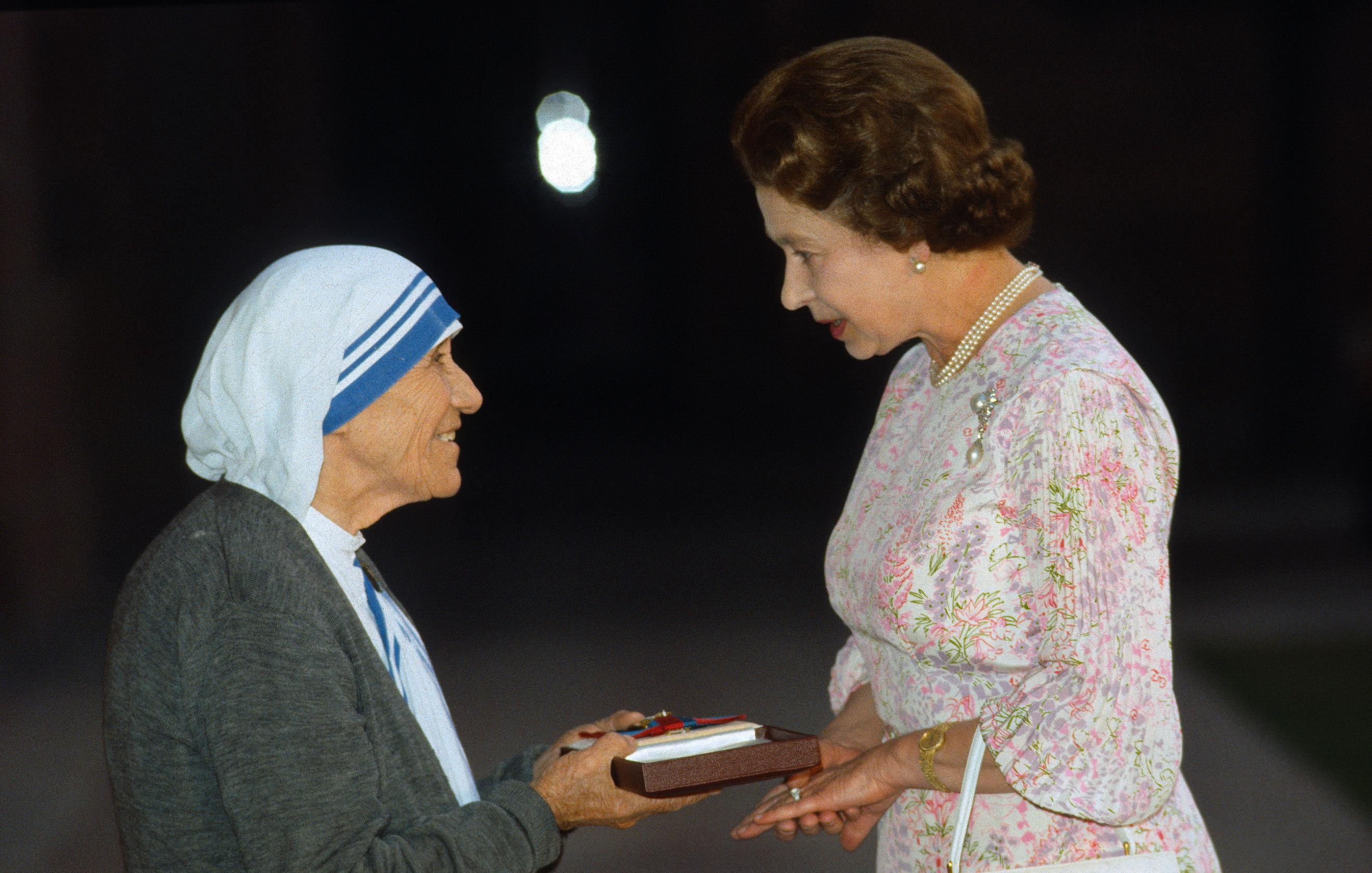 Queen Elizabeth Mother Teresa Getty Images