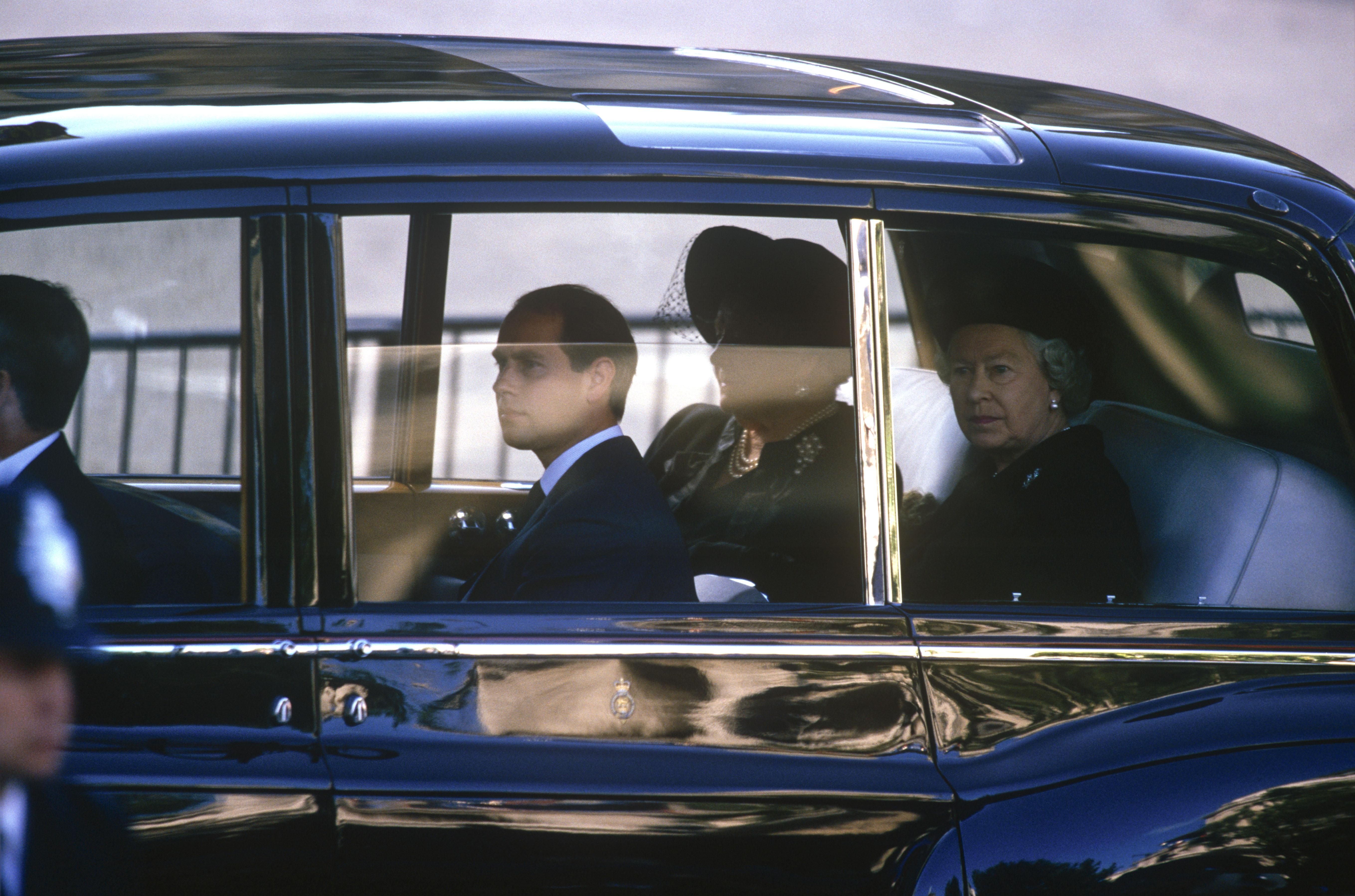 Queen Elizabeth Princess Diana Funeral Getty Images