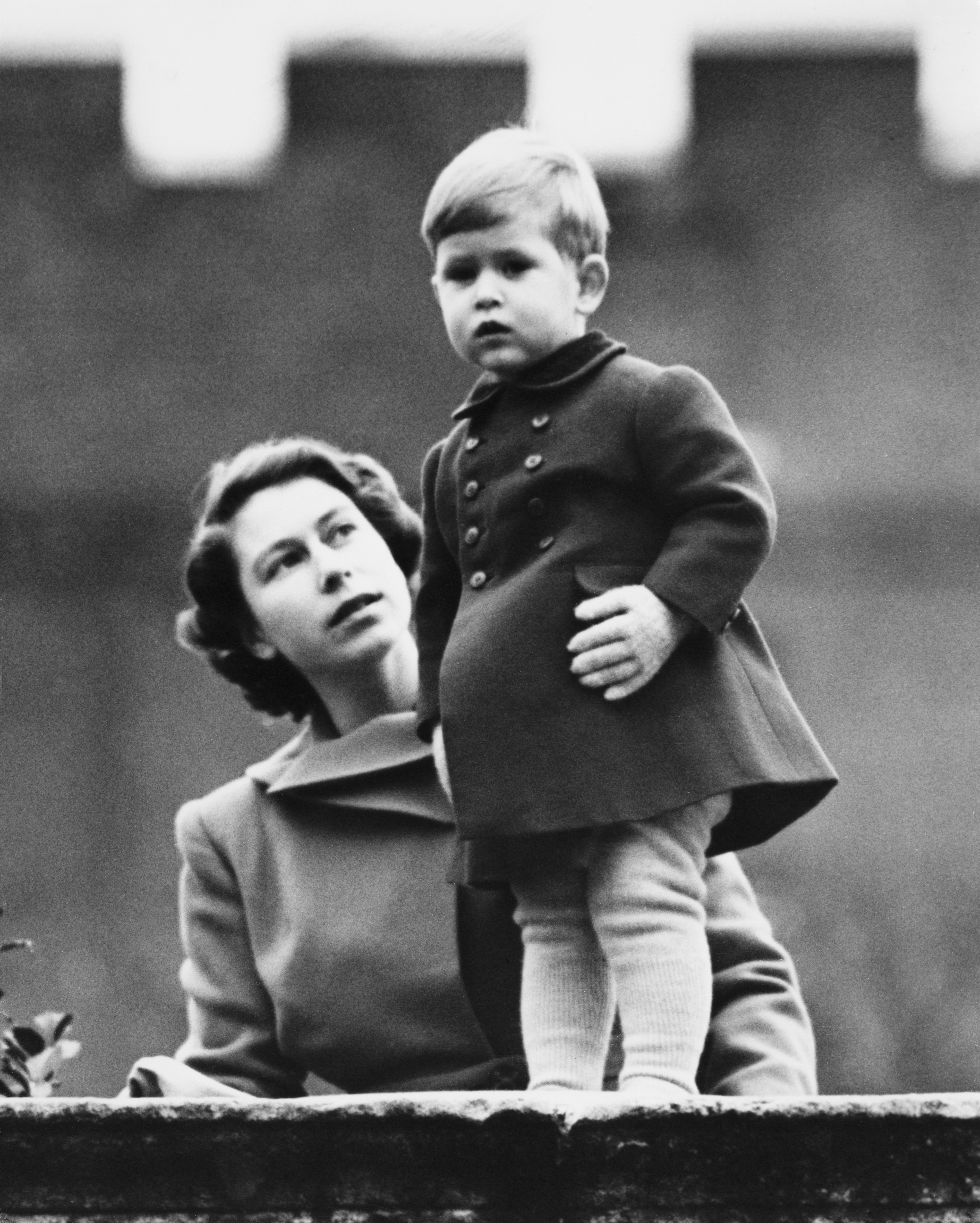 Queen Elizabeth Prince Charles Baby Getty Images