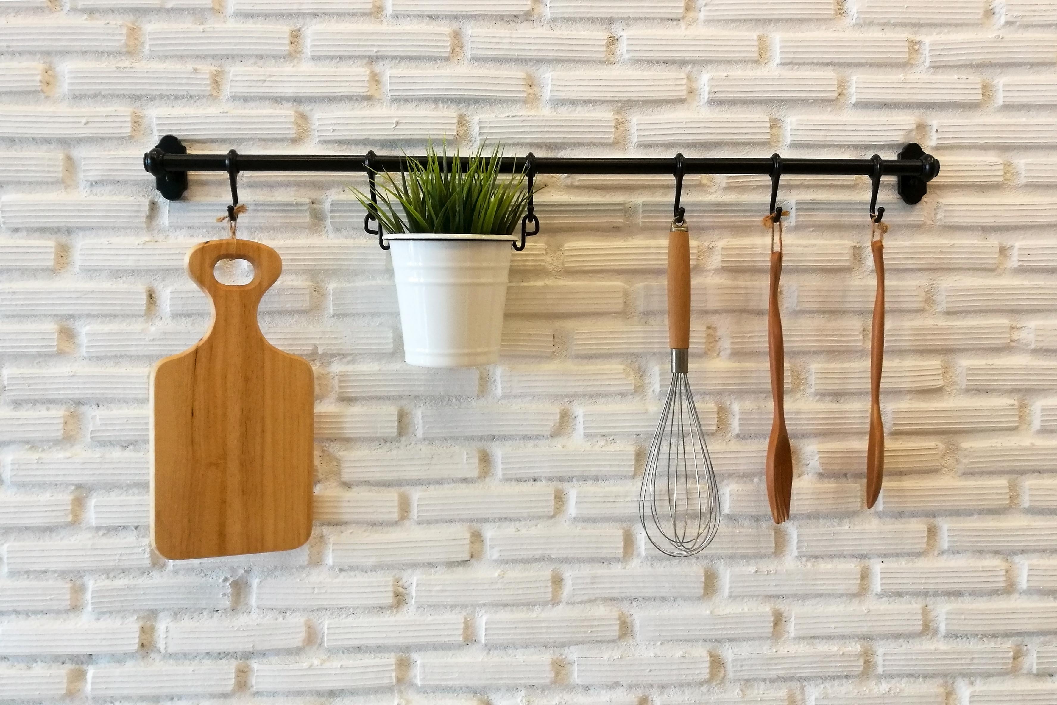 Hanging pantry storage.