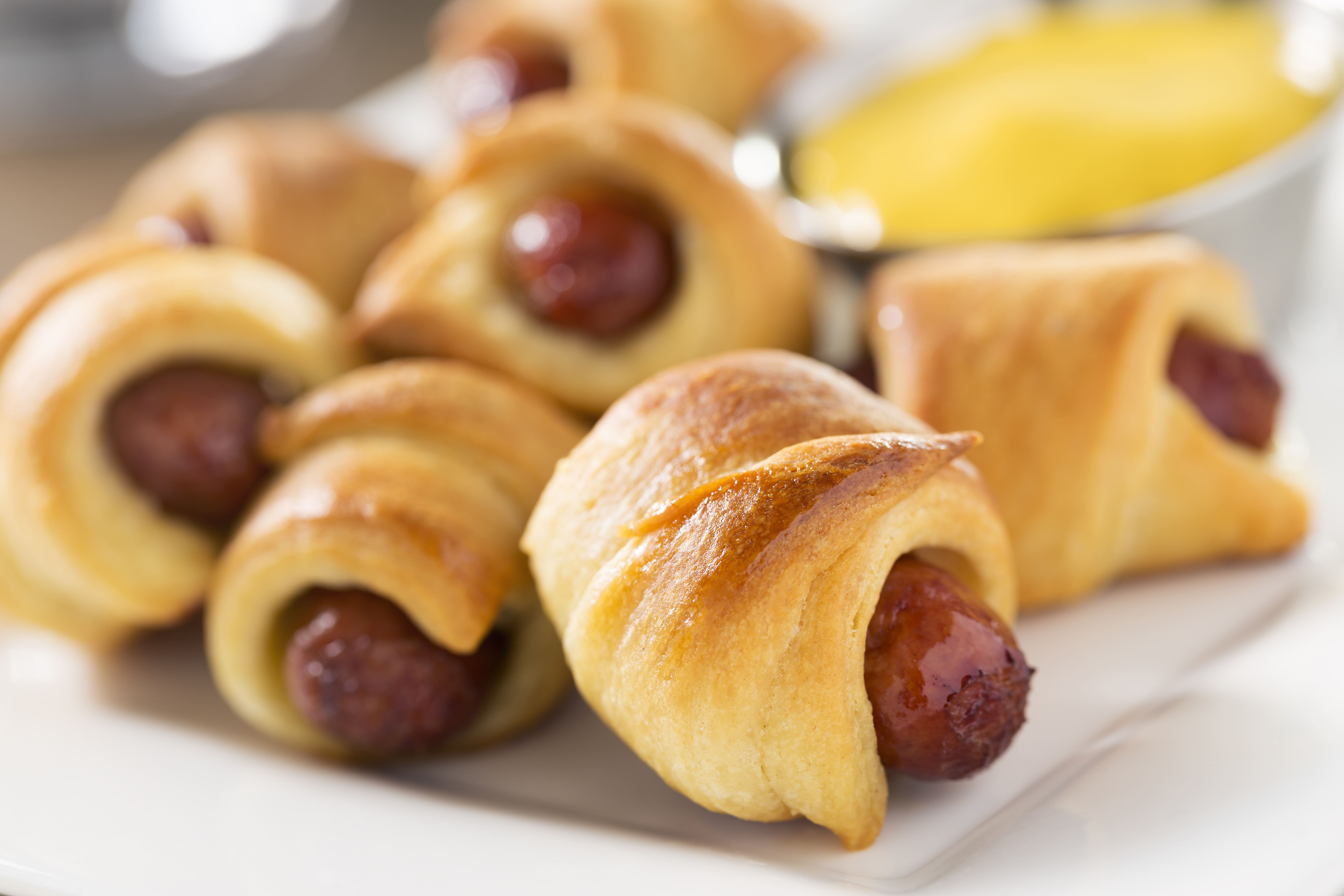 pigs in a blanket close up
