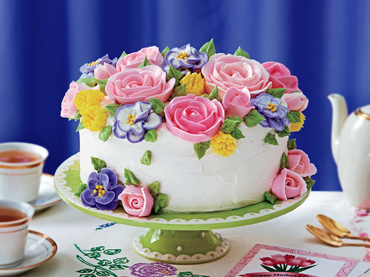 Sweet Flower Cake For Mother S Day