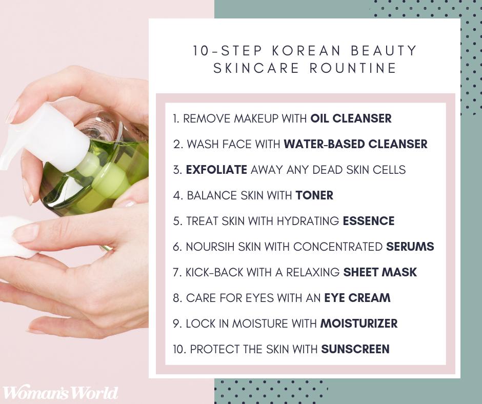 10-Step Korean Beauty Skincare Routine