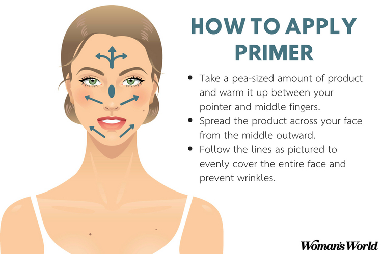 the right way to apply face primer.