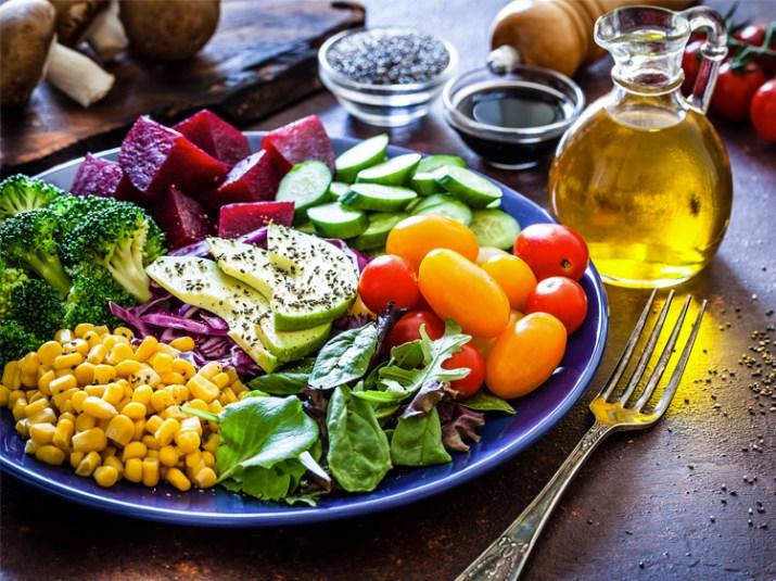the blood in vegan diet
