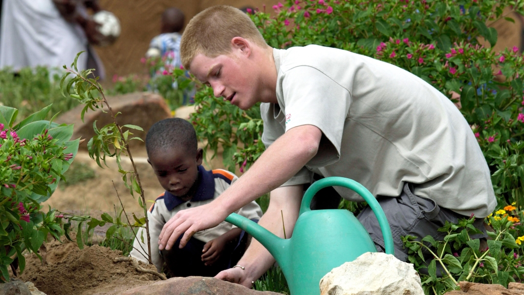 Teen Prince Harry in Africa