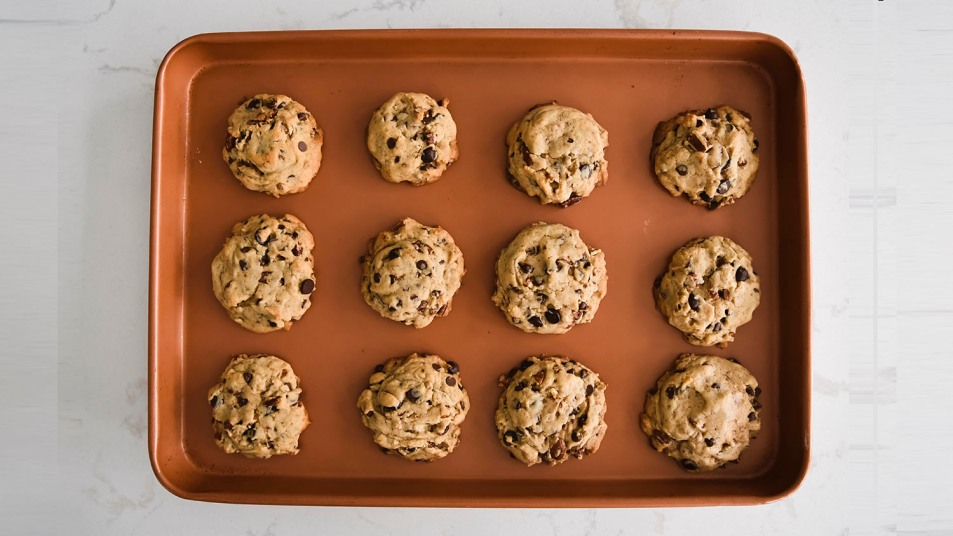 cookies on a cookie sheet