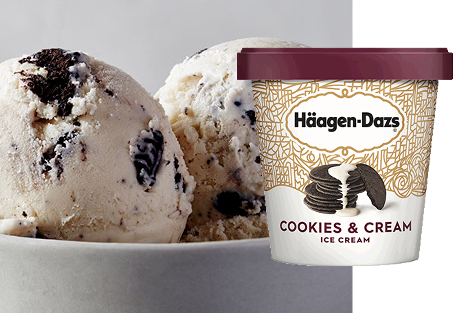 Haagen-Dazs Cookies and Cream