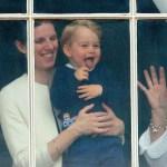 Maria Borrallo holding Prince George