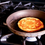 Pancake on the stove