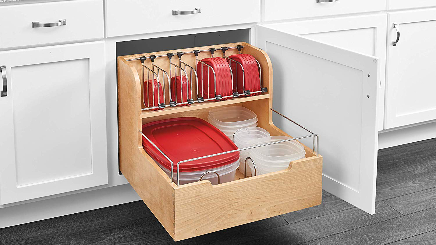 Never Lose Your Lids Again With This Genius Tupperware Organizer - Woman's World