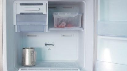 inside of freezer