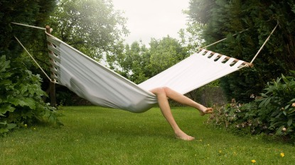 woman in a hammock