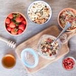Grain free oat free paleo muesli, top view