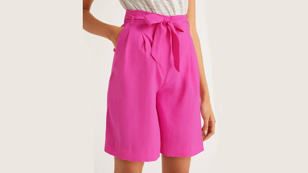 pink boden shorts for women over 50