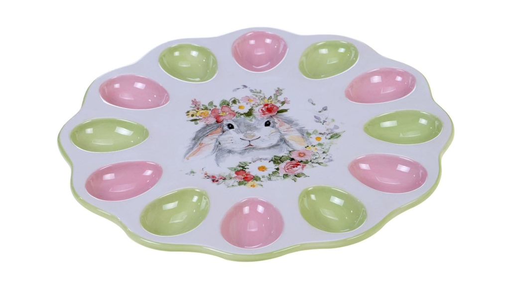 easter bunny deviled egg tray